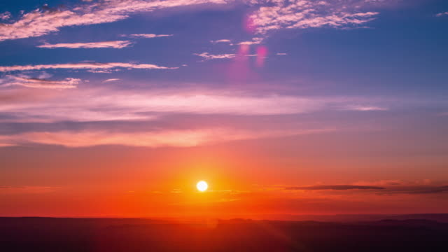 グランドキャニオンでの時間 lapse_beautiful 日の出-4k - 朝日点の映像素材/bロール