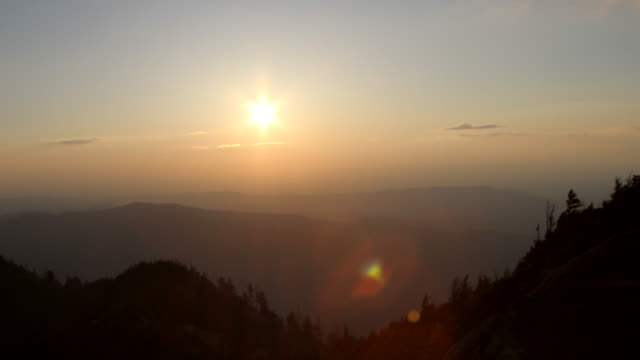 Time Lapsed Sunset Over The Smoky Mountains video