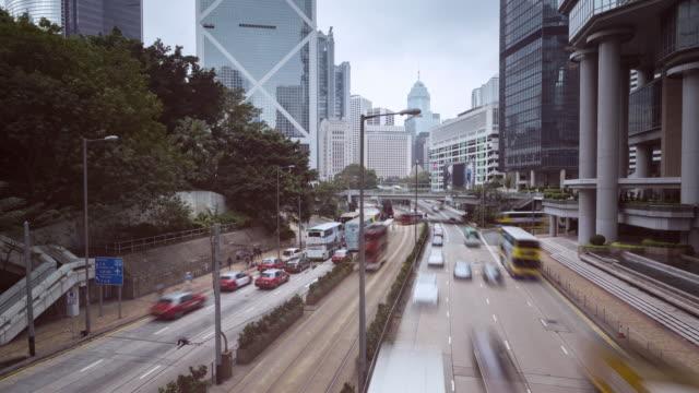 intervallo di tempo/ora traffico/hong kong, cina - 2016 video stock e b–roll