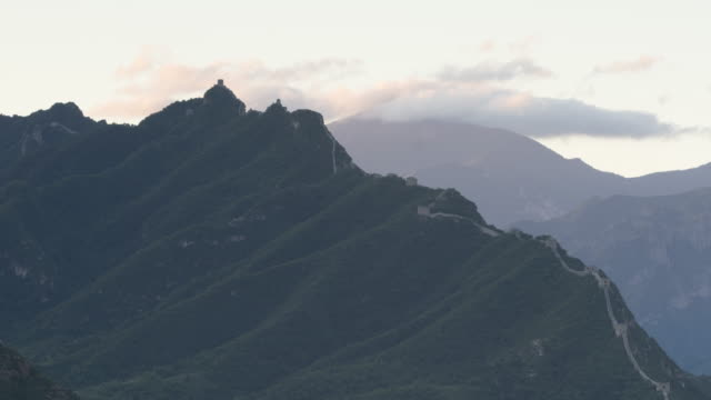 Time Lapse-Sunrise of jinshanling great wall video