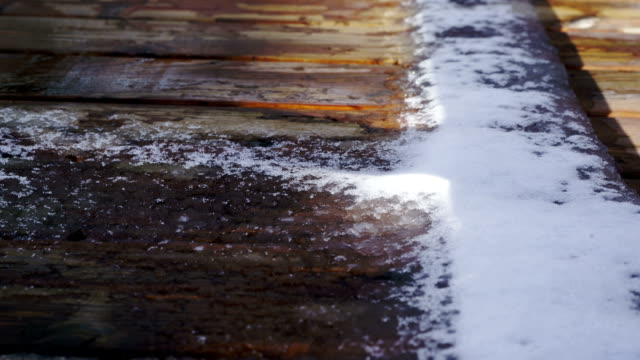 Time lapse:The melting of snow video