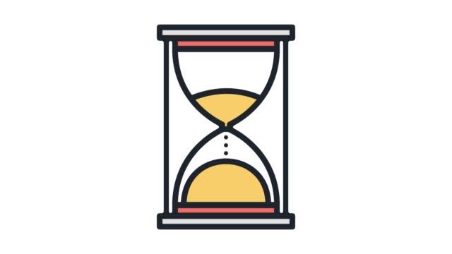 frist oder termin linie symbol animation mit alpha - kalender icon stock-videos und b-roll-filmmaterial