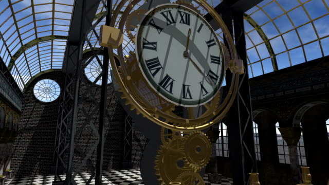 time machine animated in steam punk style - steampunk fashion stock videos and b-roll footage