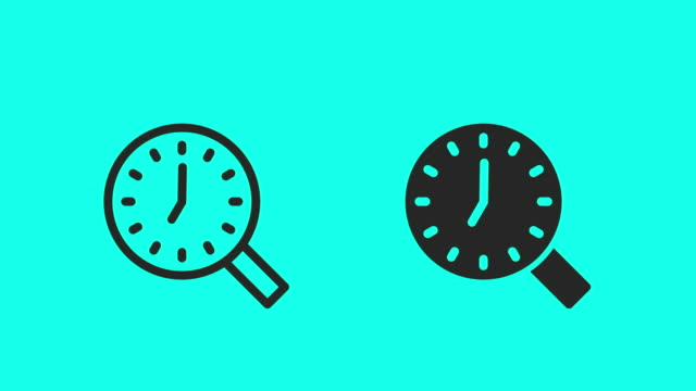 Time Search Icons - Vector Animate