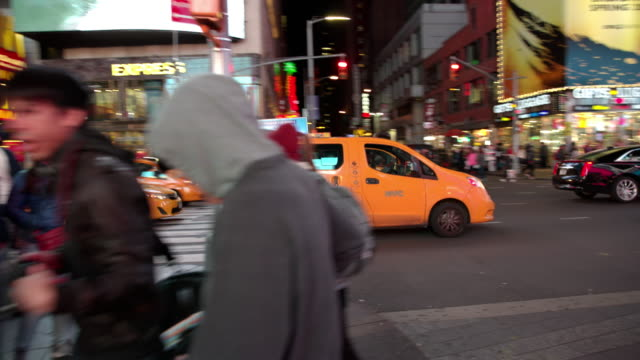 Time Square New York City people POV point of view video