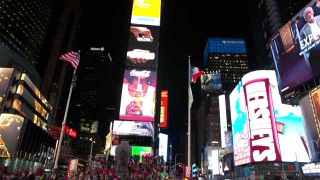 POV Time Square New York City point of view people video