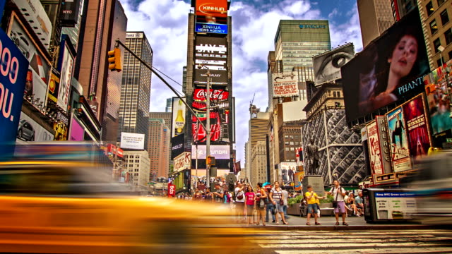 time square.  new york - editorial videos stock-videos und b-roll-filmmaterial