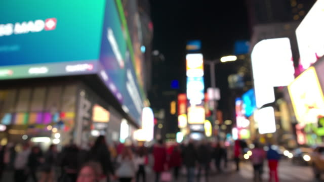 Time Square POV point of view New York City people video