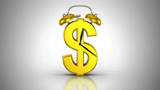 zeit, geld - dollarsymbol stock-videos und b-roll-filmmaterial