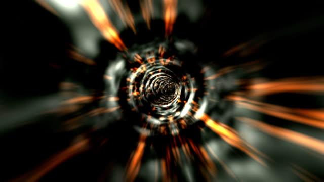 tempo tunnel2 - cavo d'acciaio video stock e b–roll