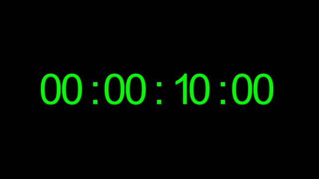 Timecode. Digits on black background Real time 40 seconds 30 fps timer stock videos & royalty-free footage