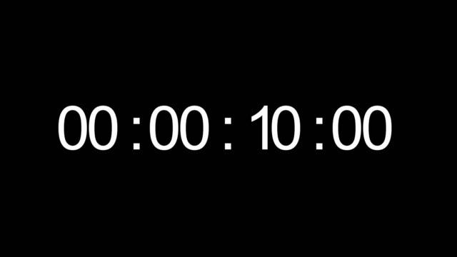timecode. digits on black background - conto alla rovescia video stock e b–roll