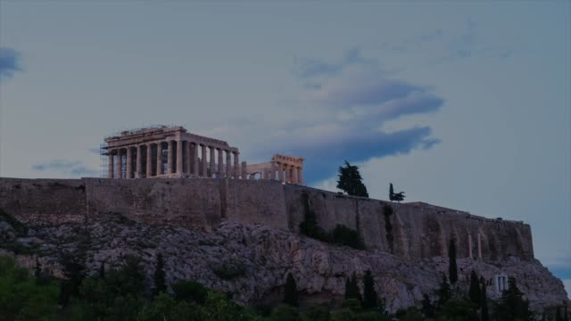 hd timelapes : acropolis, athens - mitologia video stock e b–roll