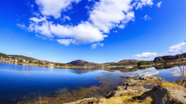 4K Timelapes : Beautiful Fjord Scenery video