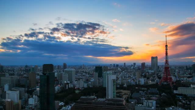 4 K Timelapes の空中を表示東京タワー ビデオ