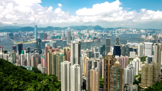 Time-lapse: Aerial Hong Kong Skyline Cityscape video