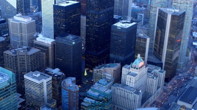 Timelapse antenne van Toronto, Ontario dag naar nacht video