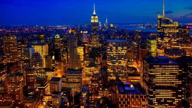 Timelapse luchtfoto zonsopgang in Midtown Manhattan video