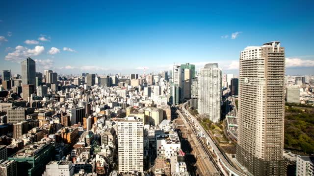 stockvideo's en b-roll-footage met hd time-lapse: aerial tokyo cityscape - tokio kanto