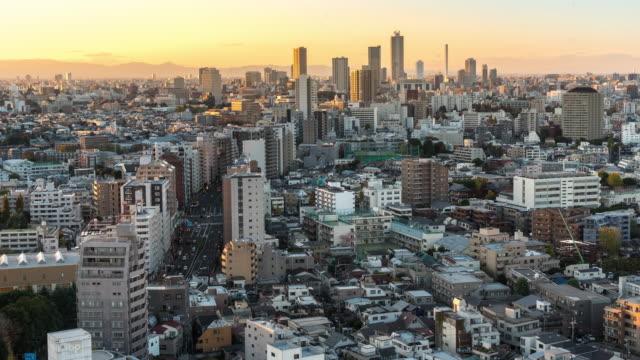 Zeitraffer: aerial View of Tokyo Stadtbild und Skyline von Bunkyo – Video