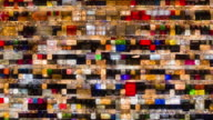 istock Timelapse and zoom out of Night market stall glowing and many people 1168181442