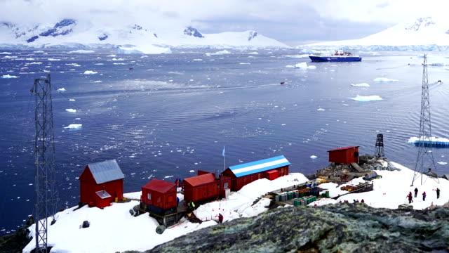 Time-lapse: Antarctic Peninsula mountain  Antarctica