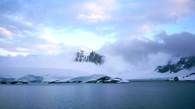 time-lapse :antarctica peninsula mountains glacier - antarctica travel stock videos and b-roll footage