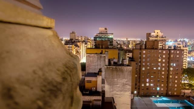 timelapse argentina córdoba city at night moving timelapse - argentyna filmów i materiałów b-roll