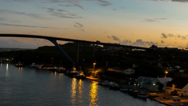 Timelapse arrival at Port Willemstad Curacao video
