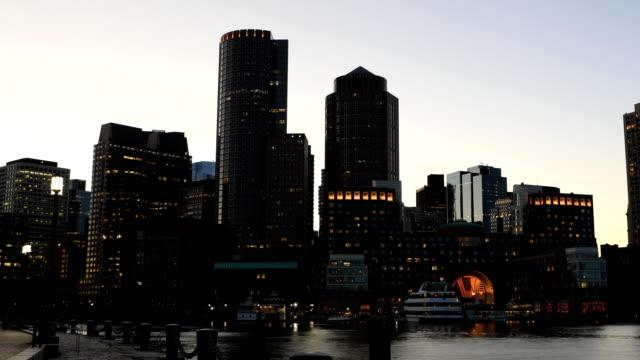 Timelapse at dusk of the Boston city center video