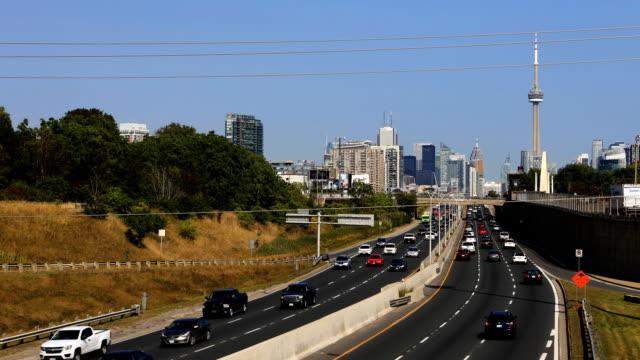 Timelapse op Gardiner Expressway in Toronto video