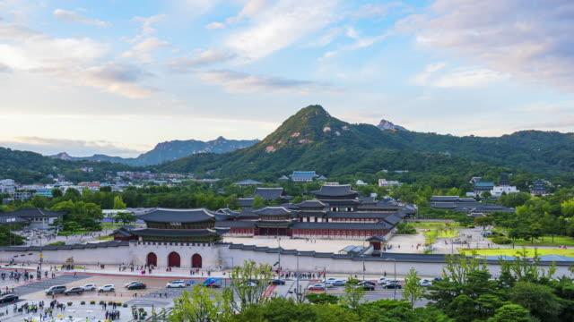 Timelapse at Gyeongbokgung Palace in Seoul,South Korea Timelapse at Gyeongbokgung Palace in Seoul,South Korea gyeongbokgung stock videos & royalty-free footage
