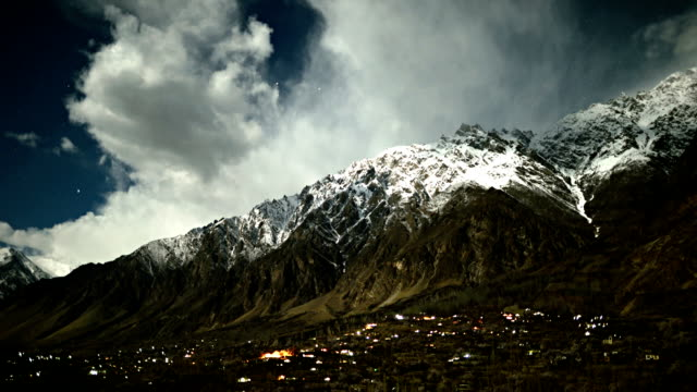 timelapse at night in Hunza Valley Pakistan video