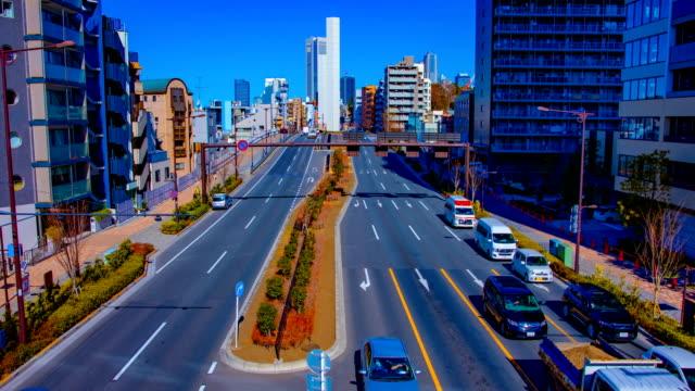 Timelapse at Tomigaya crossing in Tokyo