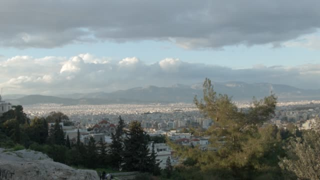 Timelapse - Athens - Greece - View of Athens from the hill of Filopappou video