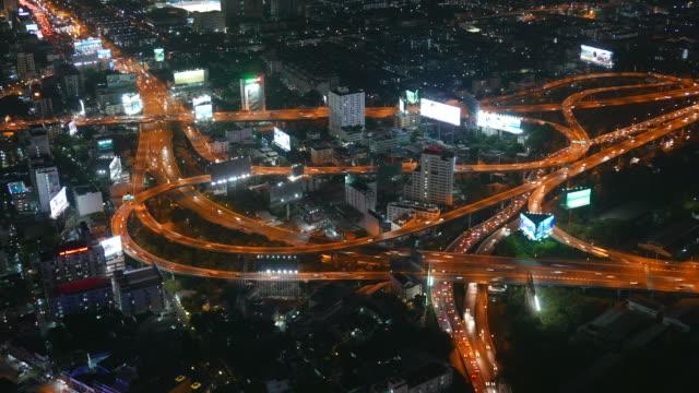 HD Timelapse bangkok city at night video