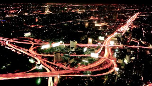 Timelapse bangkok city at night video