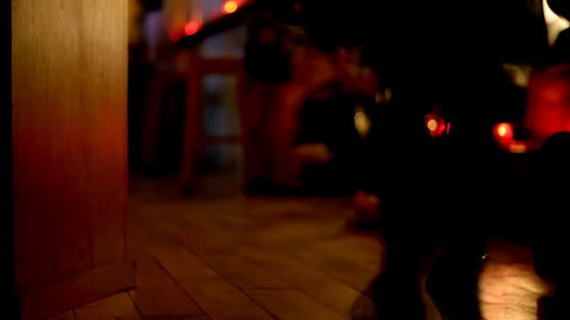 Time-lapse Bar scene video