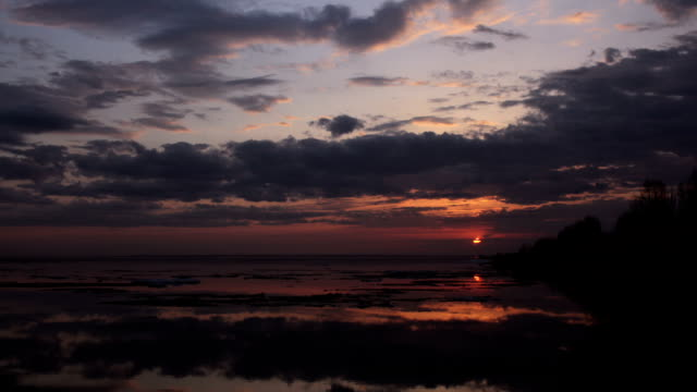 Time-lapse beautiful sunset Spring video