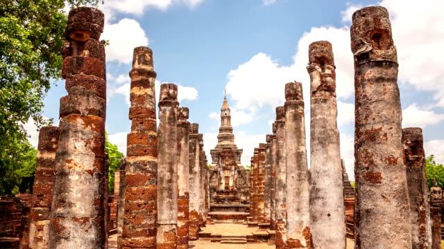 Time-lapse: Big buddha in Sukhothai historical park Thailand Time-lapse: Big buddha in Sukhothai historical park Thailand, High Definition 1920x1080 Format sukhothai stock videos & royalty-free footage