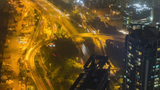 Time-Lapse: Bird eye view of Hong Kong cityscape at victoria harbor - vídeo