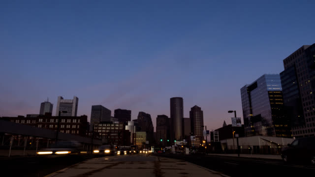 Timelapse Boston Skyline streetview video