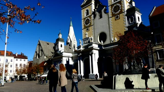 Timelapse Brixen Town square, Italy video