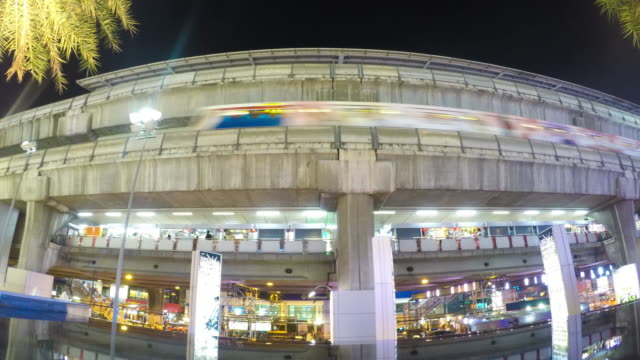 Time-lapse: BTS or sky train, Bangkok, Thailand video