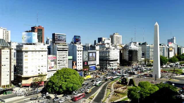 vídeos y material grabado en eventos de stock de time-lapse: buenos aires, argentina - señalización vial