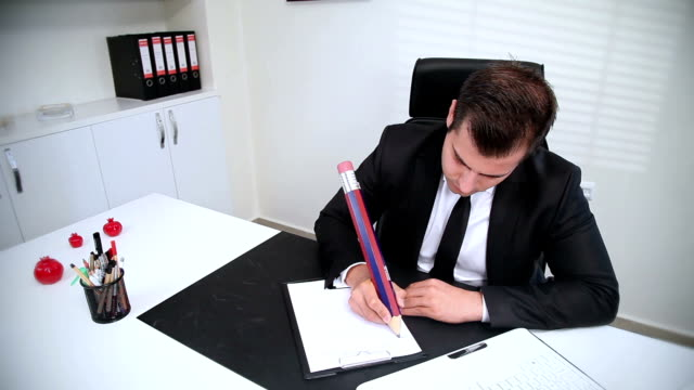 Timelapse: Businessman Taking Notes video