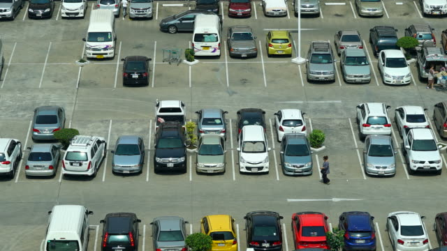 Time-lapse - Car parking lot Time-lapse - Car parking lot car shopping stock videos & royalty-free footage