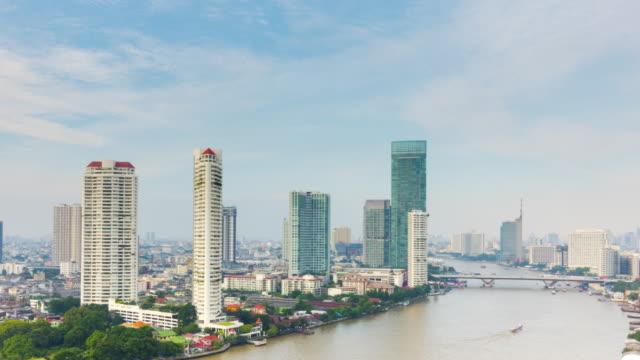 4K - Time-lapse :  Chaopraya river in Bangkok, Thailand.