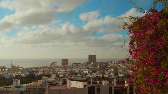 Timelapse. City of Santa Cruz de Tenerife. The capital of the Canary Islands in Spain. A city by the sea
