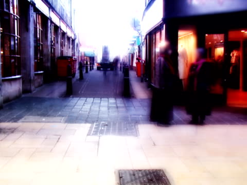 timelapse city people shopping - 10 saniyeden daha kısa stok videoları ve detay görüntü çekimi